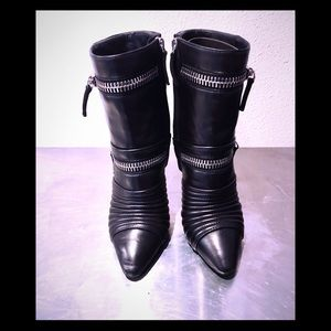 Giuseppe Zanotti Quilted Leather Zipper Boots